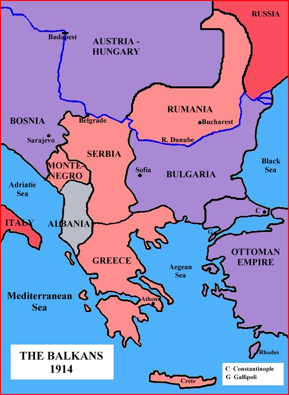 Map depicting bosnia map depicting bosnia famous historical events famous people history social studies world war i geography sciox Images