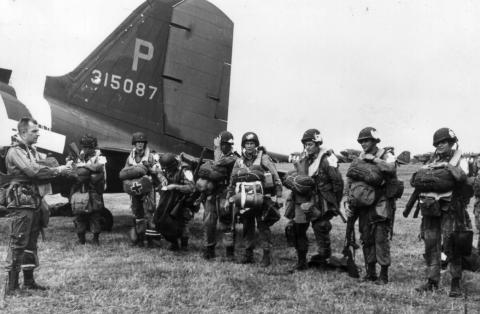 Paratroopers Leave England World War II