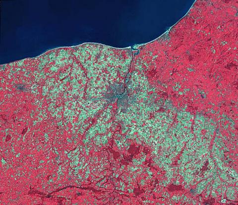 Sword Beach - Satellite View Geography Aviation & Space Exploration