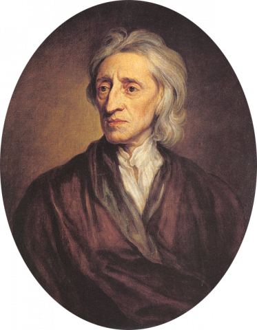 John Locke (Illustration) Government Philosophy American History American Revolution Law and Politics Famous People