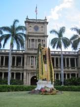 Kamehameha Statue Drapped in Leis