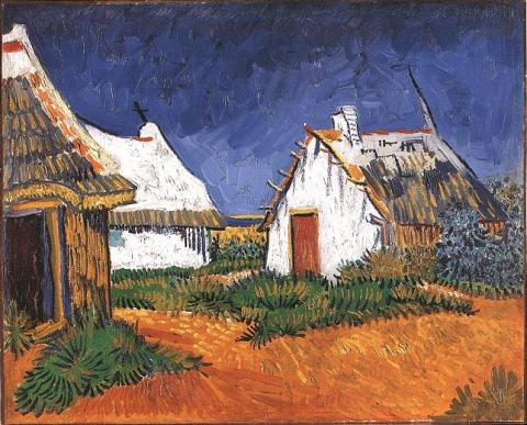 Three White Cottages in Saintes-Maries Visual Arts Nineteenth Century Life Tragedies and Triumphs