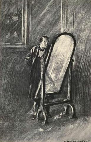 Dr. Jekyll and His Mirror Fiction Victorian Age Visual Arts