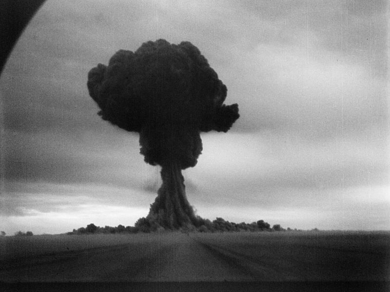 a description of the first nuclear weapon built in 1945