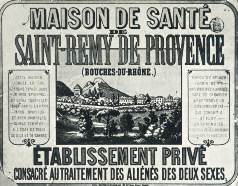 Ad for Vincent's Hospital in Saint-Remy History Social Studies Visual Arts Nineteenth Century Life Tragedies and Triumphs