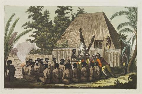 Captain Cook Arrives in Hawaii