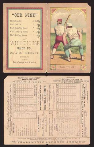 Early Baseball Scorecard American History Awesome Radio - Narrated Stories Sports Visual Arts Social Studies