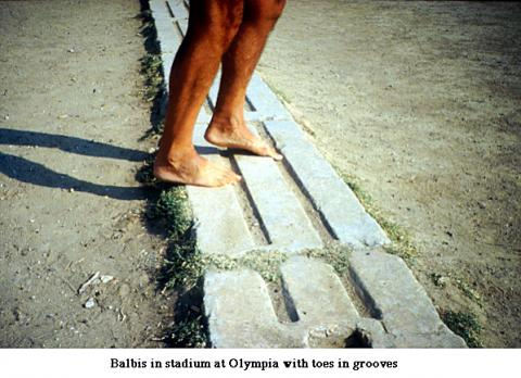 Ancient Olympics - Barefooted Competitors Archeological Wonders Famous Historical Events Sports Ancient Places and/or Civilizations