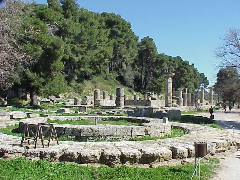 Path Leading to the Ancient Olympic Stadium Archeological Wonders Sports Ancient Places and/or Civilizations