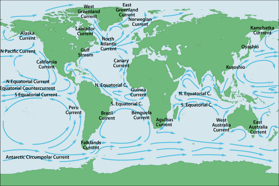 Map of the world world ocean map world ocean map mapping mapping global ocean currents map global ocean map gumiabroncs Choice Image