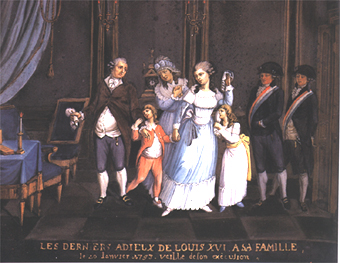 Louis XVI and Family - Under Guard