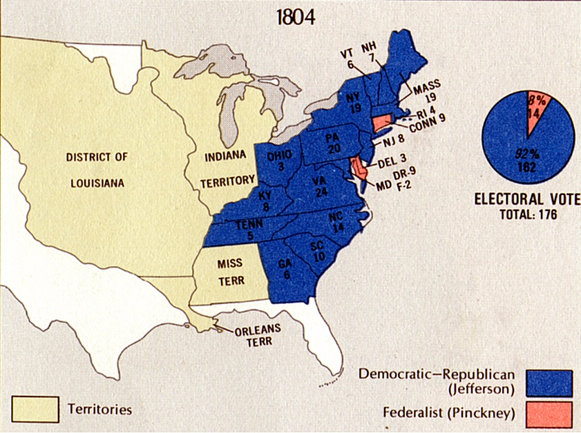 election of 1804 results famous historical events american history american presidents government law and politics