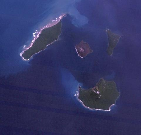 Krakatoa, Indonesia - Seen from Space Aviation & Space Exploration Famous Historical Events Geography STEM Visual Arts