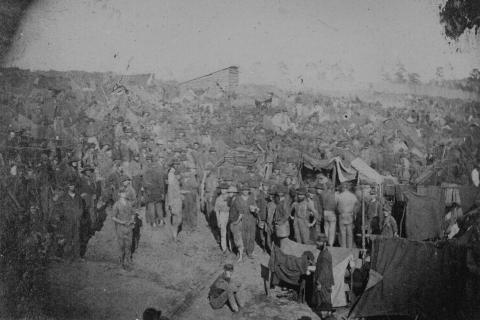 Union Prisoners at the Andersonville Camp Civil Wars Famous Historical Events Social Studies American History