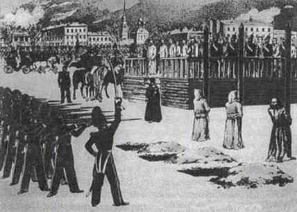 DEATH BY THE FIRING SQUAD (Illustration) Fiction Geography Film
