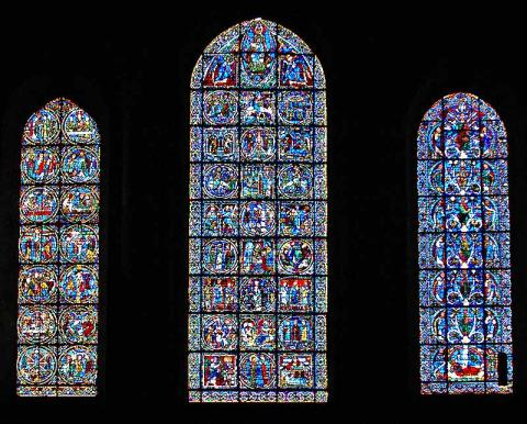 West Lancet Windows - Medieval Glass at Chartres Medieval Times Philosophy Visual Arts