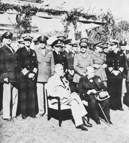 Casablanca Conference - Photo American History American Presidents Famous Historical Events Famous People World War II Tragedies and Triumphs