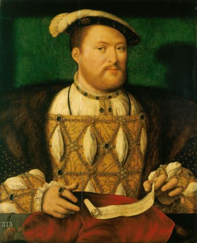 Portrait of King Henry VIII Visual Arts World History History Famous People