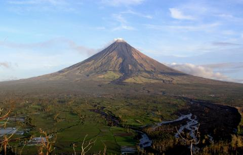 Mount Mayon Volcano - Near Legaspi in The Philippines Geography World War II Disasters