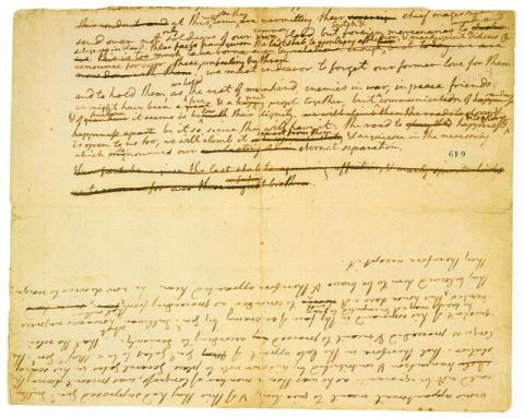 Jefferson's Declaration Drafts - Surviving Fragment American History American Presidents American Revolution