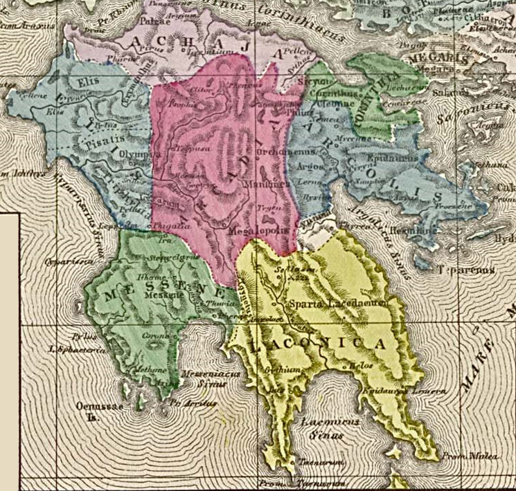 Lacedaemon - Name for Ancient Sparta Geography Ancient Places and/or ...