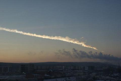 RUSSIAN METEOR - 15 FEB 2013 (Illustration) Russian Studies Famous Historical Events Geography Social Studies Aviation & Space Exploration STEM Visual Arts Astronomy