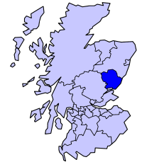 Map Showing Angus Scotland Geography