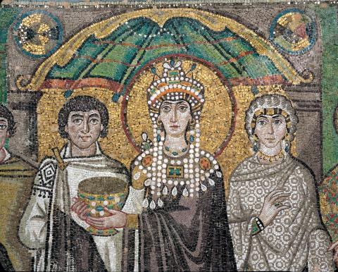Empress Theodora - San Vitale Mosaic in Ravenna Biographies Famous People Social Studies World History Ancient Places and/or Civilizations Legends and Legendary People