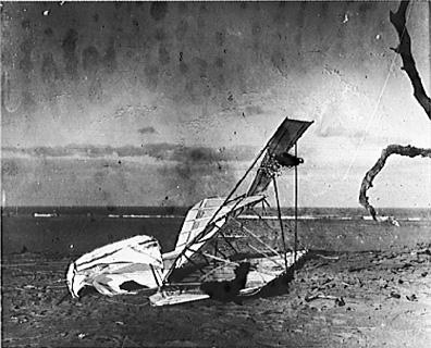 A Failed Attempt - Wright's Glider in 1900 American History Disasters Famous Historical Events Famous People Aviation & Space Exploration Tragedies and Triumphs