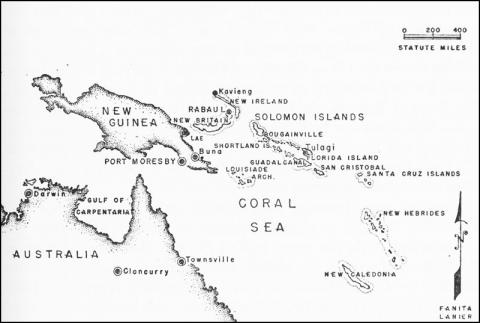 Map of New Guinea - Training Place for Alamo Scouts and Rangers Famous Historical Events Social Studies World War II Geography
