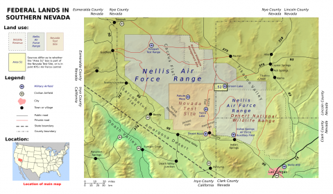 Federal Lands - Location of Area 51 Geography Social Studies