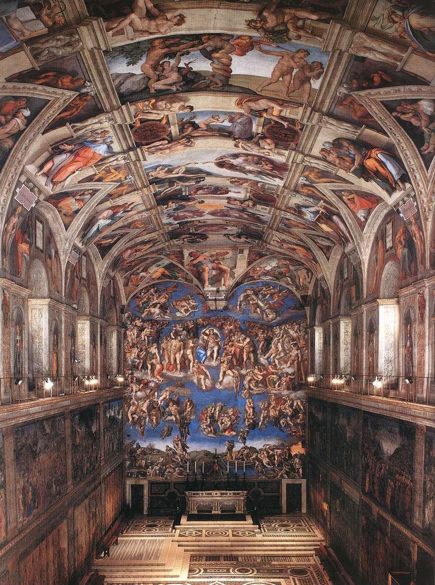 sistine chapel interior view