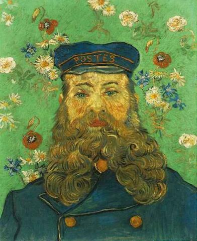 Portrait of the Postman Joseph Roulin - April, 1889 Social Studies Visual Arts Nineteenth Century Life