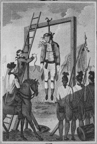 EXECUTIONS (Illustration) American History Famous Historical Events Famous People Social Studies Revolutionary Wars Ethics American Revolution