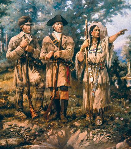 SACAGAWEA: TRIUMPHANT MISSION (Illustration) American History Famous Historical Events Famous People Geography Native-Americans and First Peoples  Film