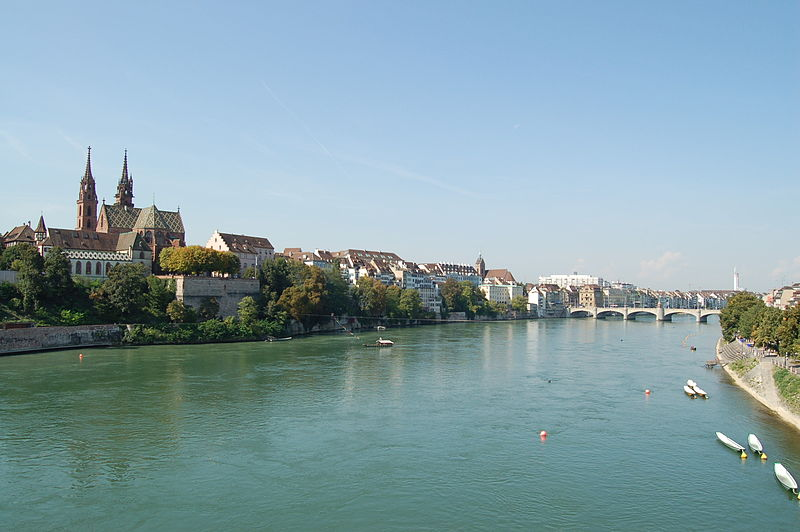 Basel Swiss City On The Rhine River - Swiss river to the rhine