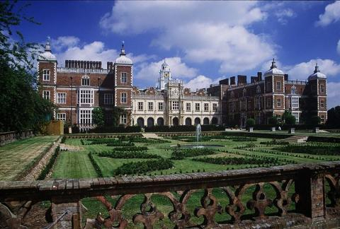 Panoramic View of Hatfield House Biographies Geography Social Studies World History Ethics