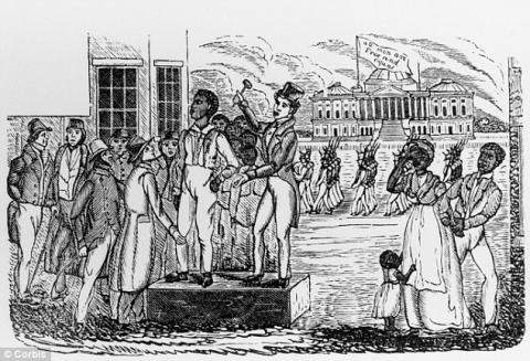 Washington Slave Pen in Sight of the Capitol American History African American History Civil Rights Ethics Law and Politics Nineteenth Century Life Social Studies Slaves and Slave Owners Famous Historical Events