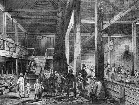 Refuge for the Destitute - London in 1843 Law and Politics Nineteenth Century Life Visual Arts Ethics Victorian Age