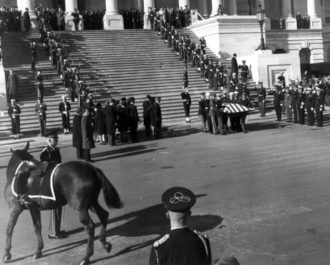 The President's Coffin and the Riderless Horse American History American Presidents The Kennedys Assassinations Famous Historical Events