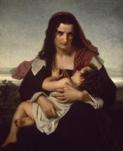 Hester Prynne and Her Child - The Scarlet Letter