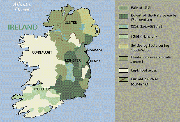 Map Of Ireland 1916.Ireland Historic Map With Political And Geographical Borders