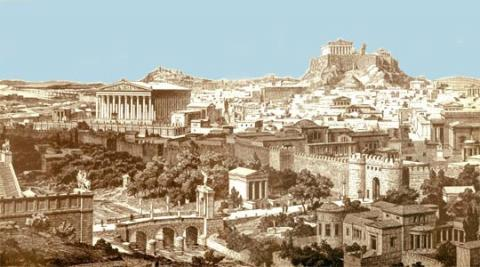 Athens - View of the Ancient City Geography History Social Studies World History Ancient Places and/or Civilizations