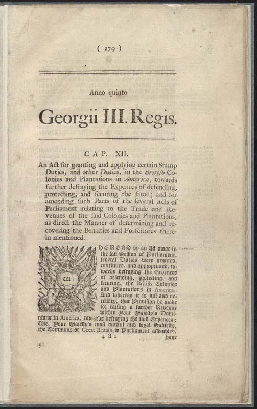 a history of the stamp act congress in england Early american history  in 1765, a stamp act congress met in new york city   when parliament heard about the stamp act congress, the boycott, and how.