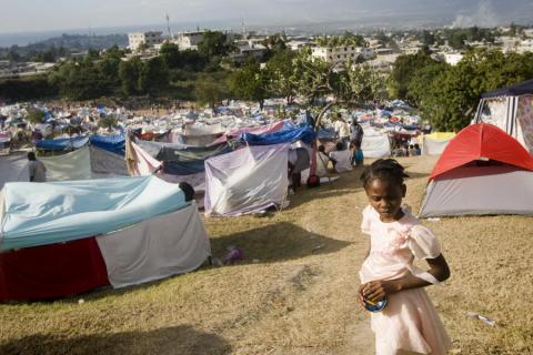 Haiti - Golf Course Tent City Disasters Famous Historical Events Geography Social Studies World History