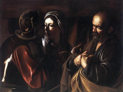 Peter's Denial - by Caravaggio Philosophy World History Visual Arts