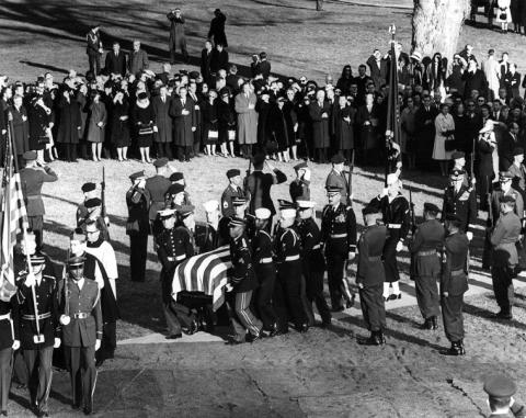 JFK's Coffin Delivered to His Grave Site American History Disasters The Kennedys Assassinations American Presidents
