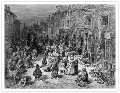 Slums of England in the 1840s - Sheffield Victorian Age Nineteenth Century Life Visual Arts Ethics