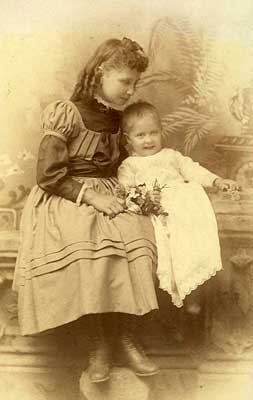 Keller with Baby-Sister Mildred