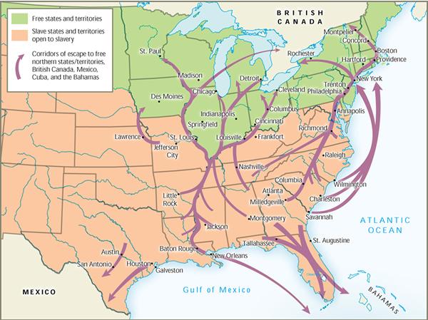 Harriet Tubman: Freedom Fighter - The Underground Railroad on underground wells map, underground roads map, underground trains map, underground government facilities map, underground homes map, frederick douglass map,
